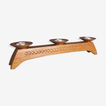 Bougeoir en bois style scandinave