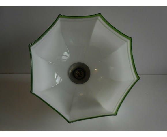 Suspension en opaline parapluie 1900