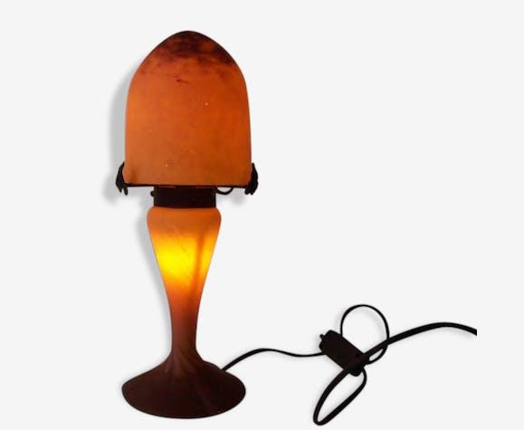 Lampe champignon style Muller frères en pâte de verre années 70 80