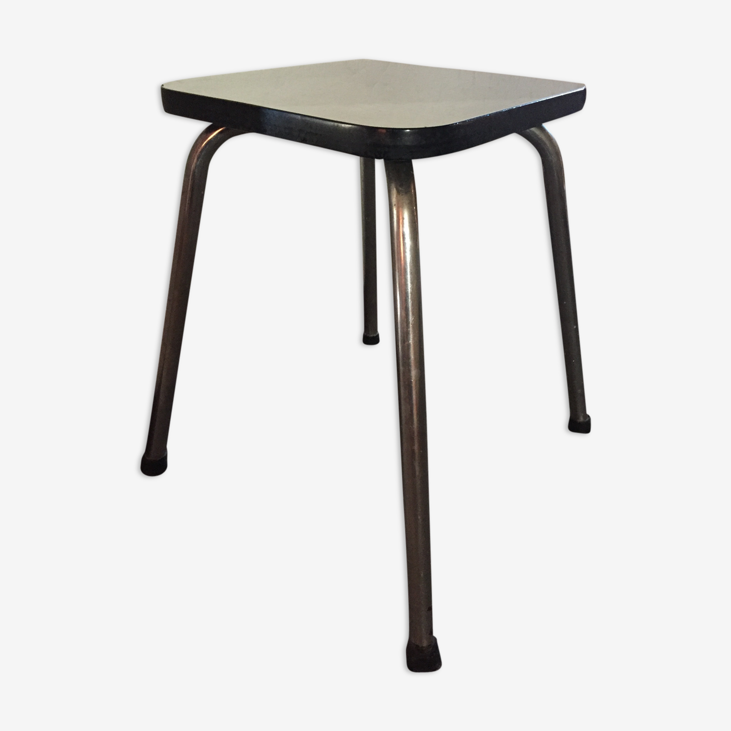Stool 60 years white formica