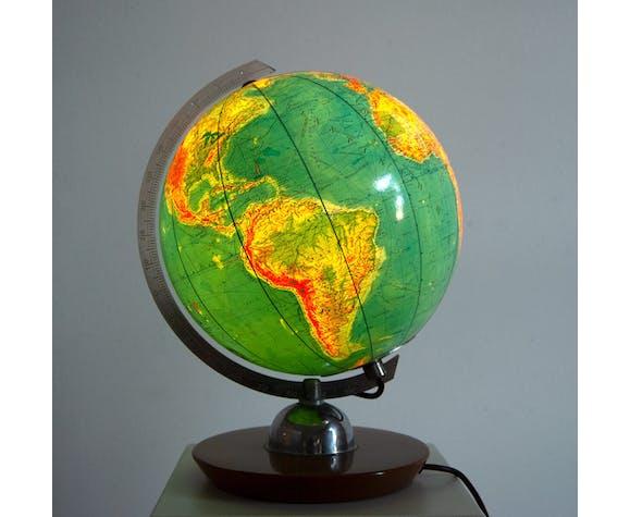 Globe illuminé par JRO Verlag München années 60