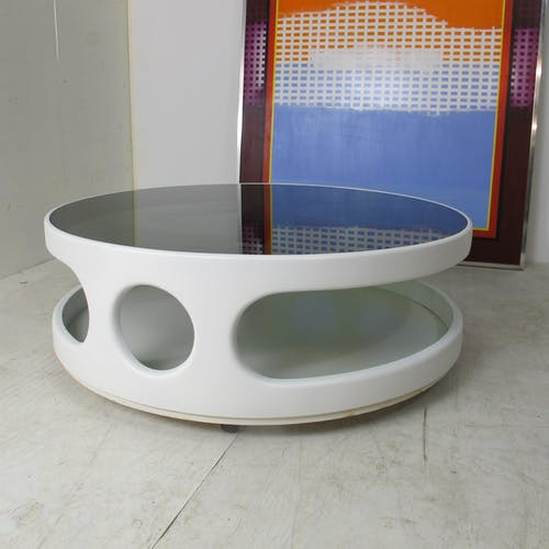 Table basse vintage space age 1973