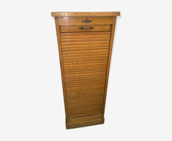 Meuble rouleau ann es 50 bois mat riau bois couleur industriel i6gs15j - Meuble tv annee 50 ...