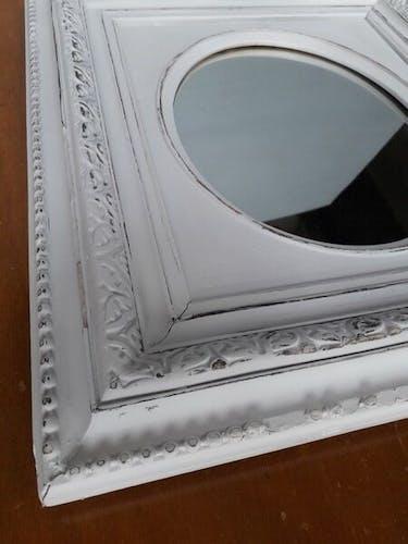 Miroir Napoleon III shabby chic 55x48 cm
