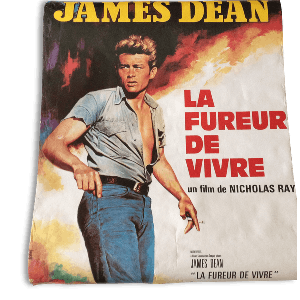 affiche film la fureur de vivre james dean papier vintage 43954. Black Bedroom Furniture Sets. Home Design Ideas