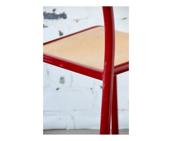 Chaise rouge Mullca type 510