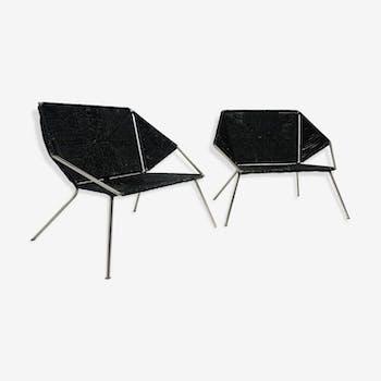 Paire de fauteuils vintage design