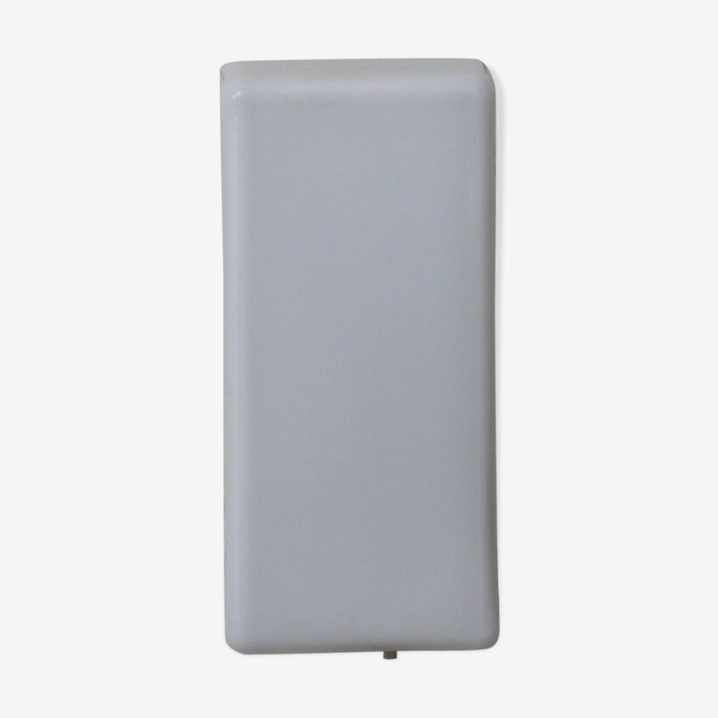 Applique plafonnier verre opaline blanche brillante rectangulaire
