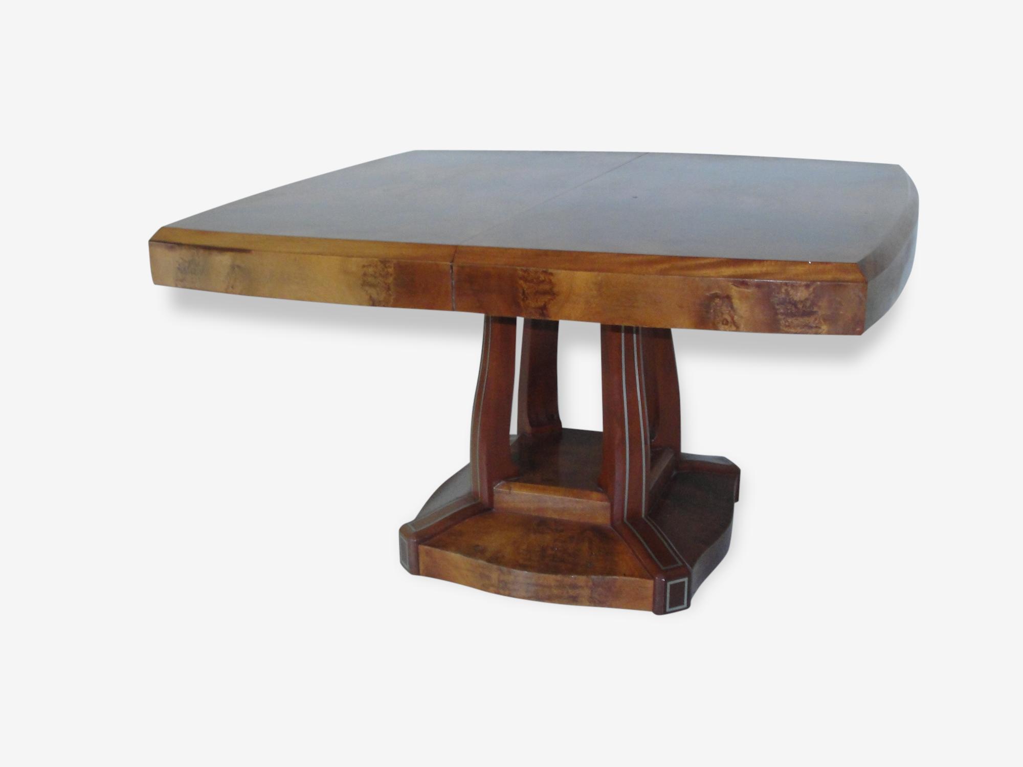 Table Art Deco extensible jusqu'à  2m80