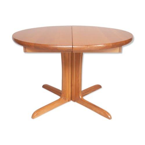Table De Salle A Manger Ronde Pied Central Scandinave 50 60 Selency