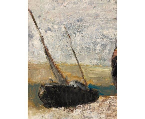 Peinture Marine Bateaux au Hourdel