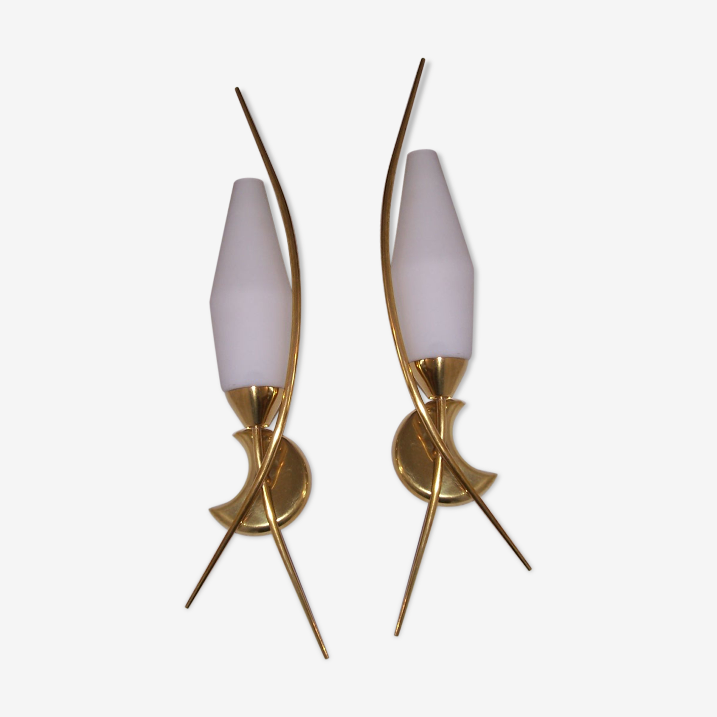 Pair of wall lamps Lunel 50's