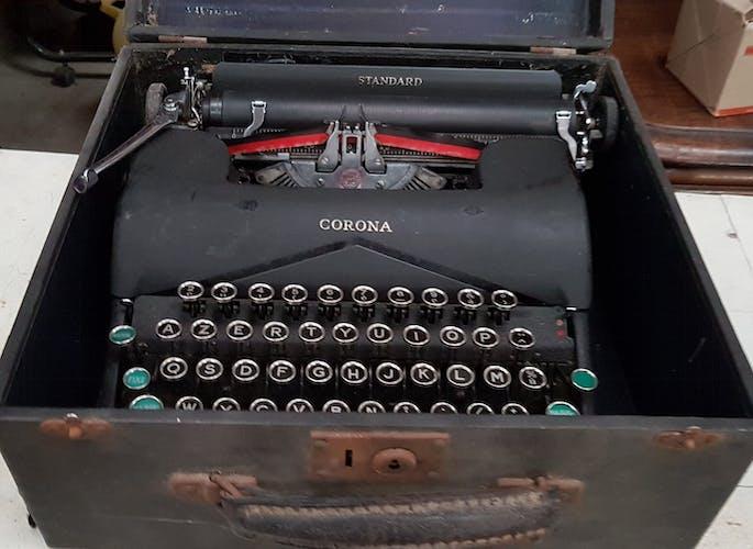 Machine à écrire Corona, LC Smith, Made USA