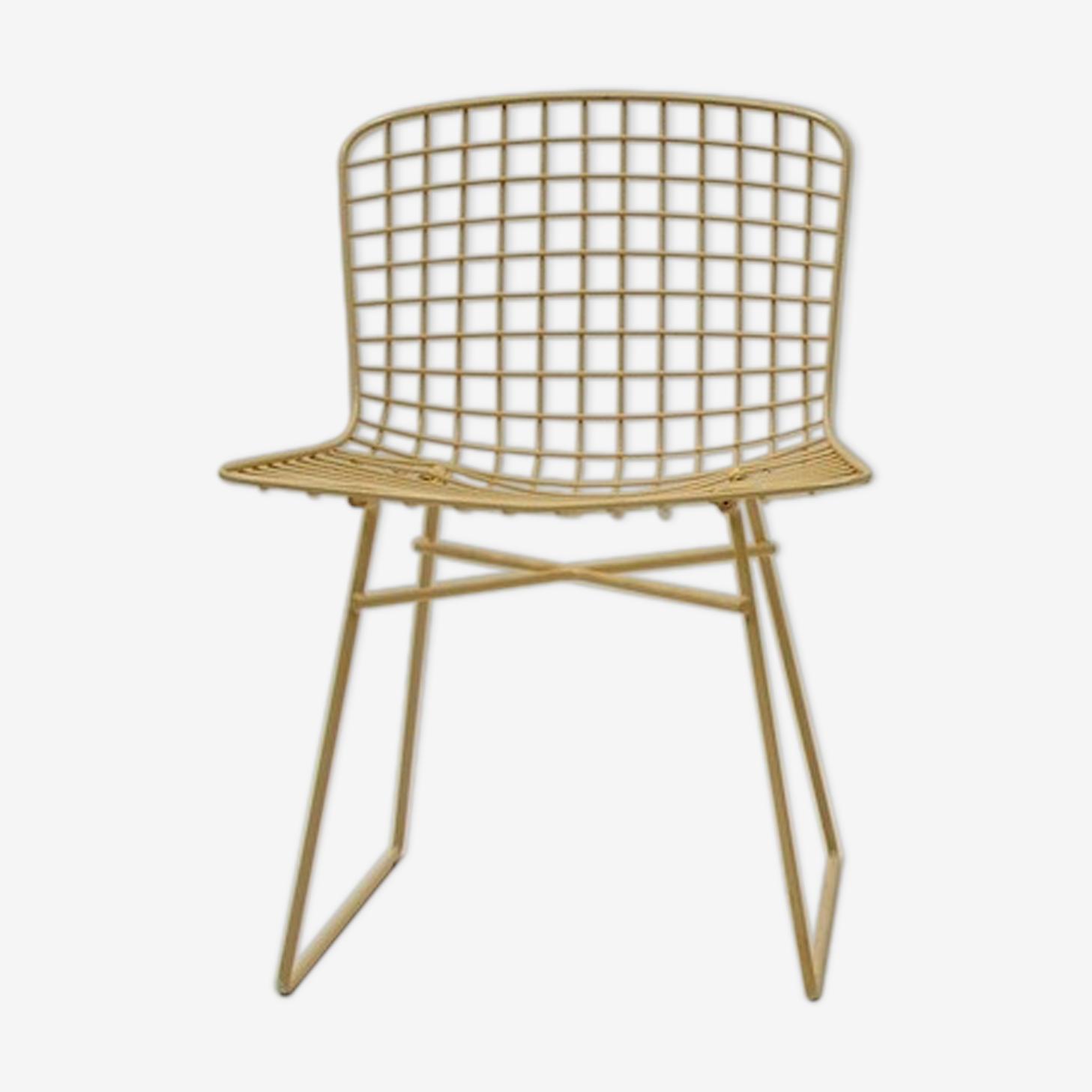 Chaise en fil Bertoia