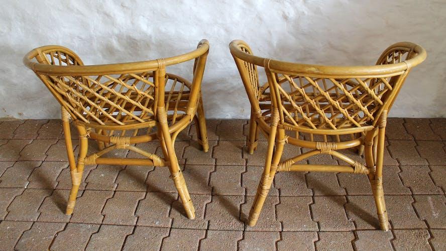 Rattan and bamboo lounge