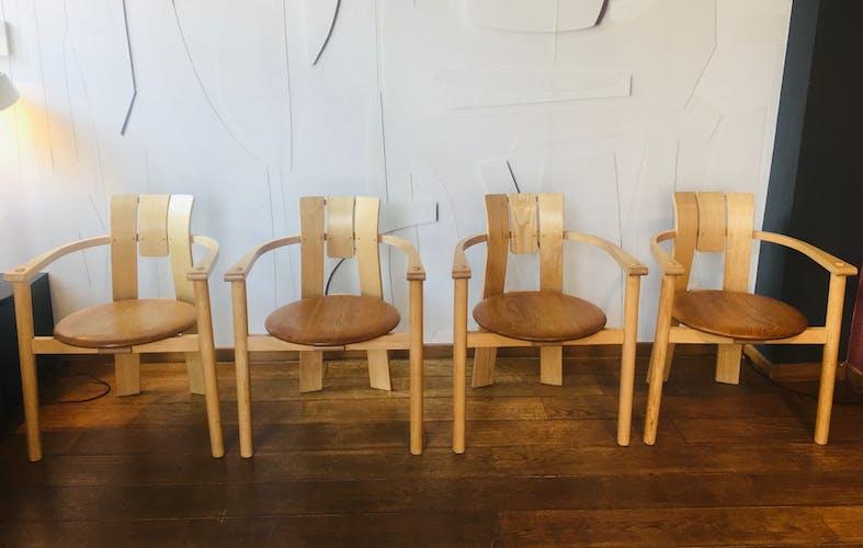 Série de 4 chaises années 80