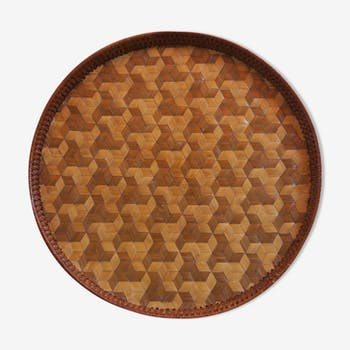 Republic of China post 1949 braided Wicker tray