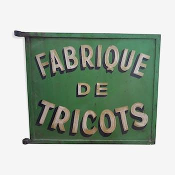 Enseigne fabrique de tricots années 50