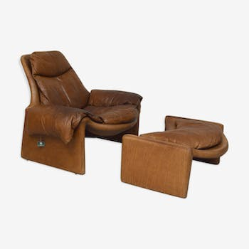 Leather armchair by Vittorio Introini, 1960