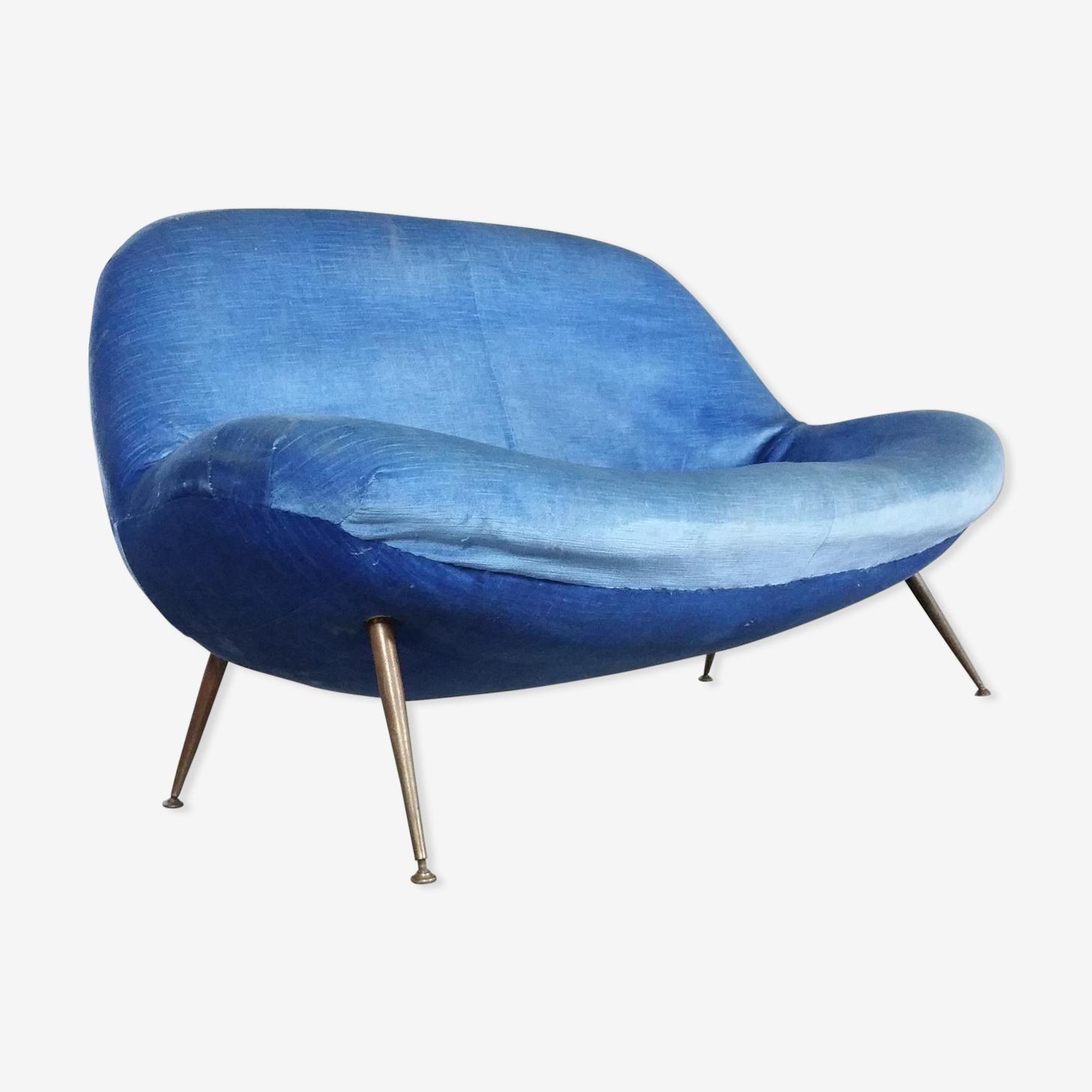Canapé sofa egg biomorphique de Fritz Neth pour correcta années 1955