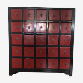 meuble tiroirs ancien indien bois mat riau noir thnique xm0odp0. Black Bedroom Furniture Sets. Home Design Ideas