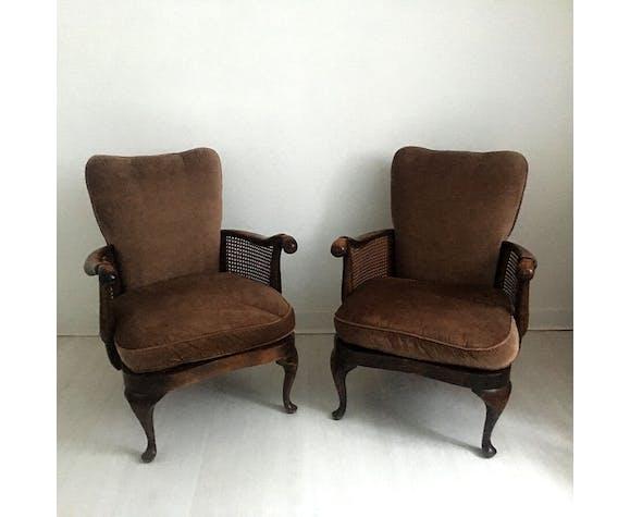 Paire de fauteuils anglais style chippendale