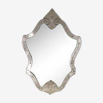20th venetian mirror - 106x66cm