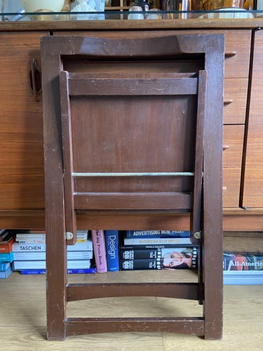 Chaise pliante en bois