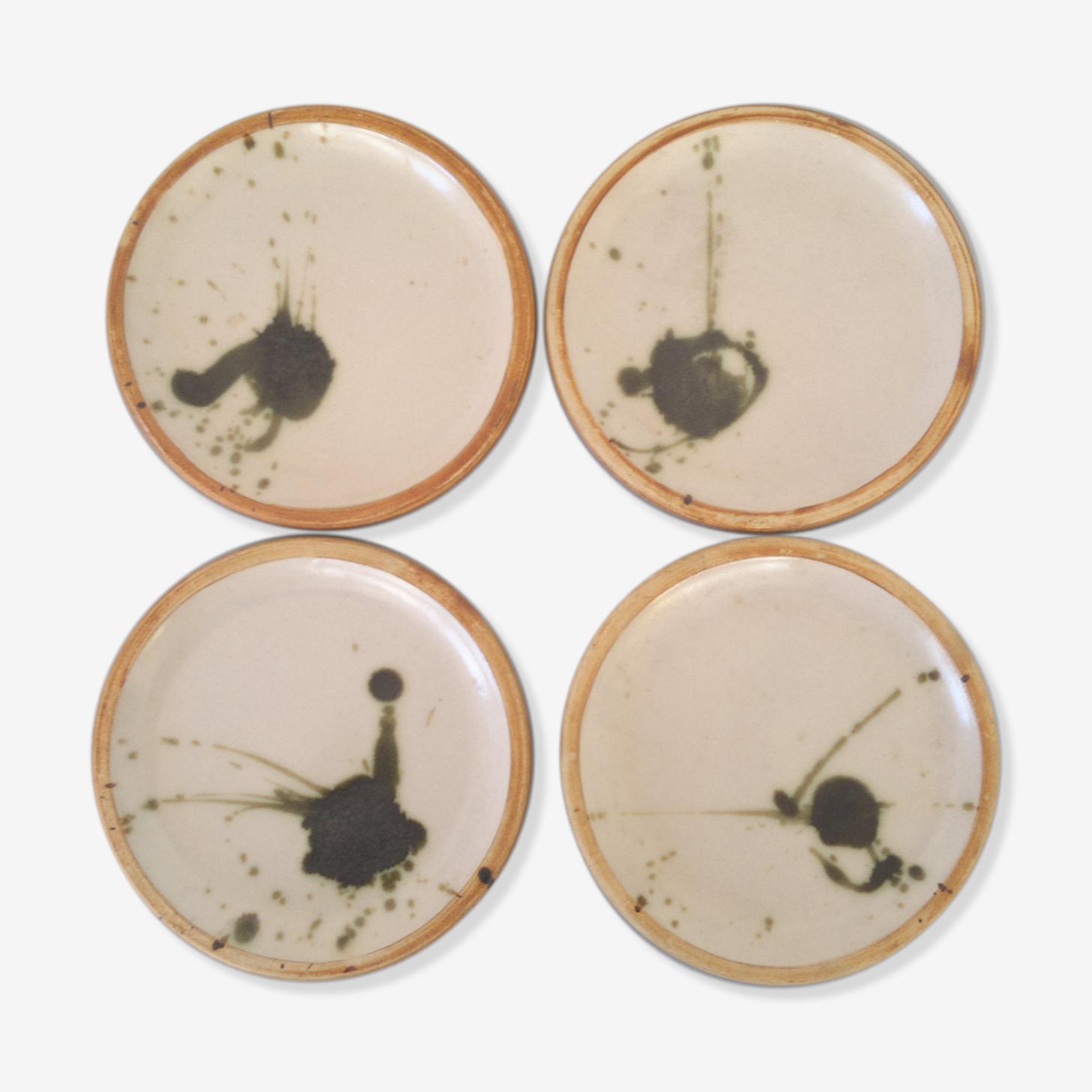 """Modernist plates """"Pottery La Colombe"""""""