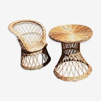 All Chair and table rattan