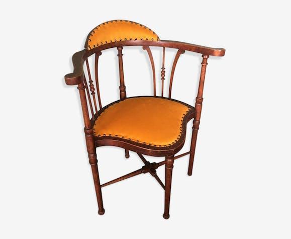 chaise d 39 appoint art nouveau en acajou 1910s bois. Black Bedroom Furniture Sets. Home Design Ideas
