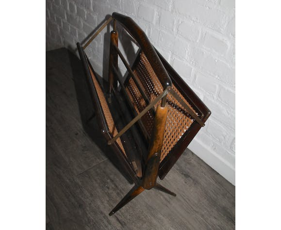 Cesare Lacca Former foldable magazine rack 1950 Made in Italy