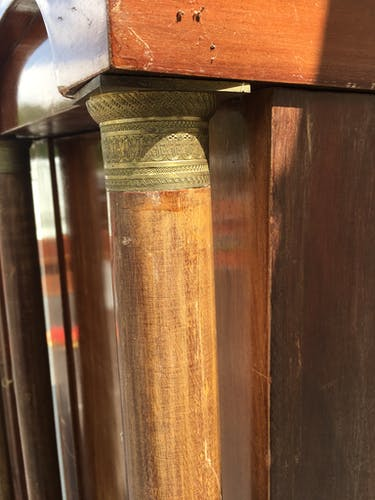 Mahogany Empire bookcase