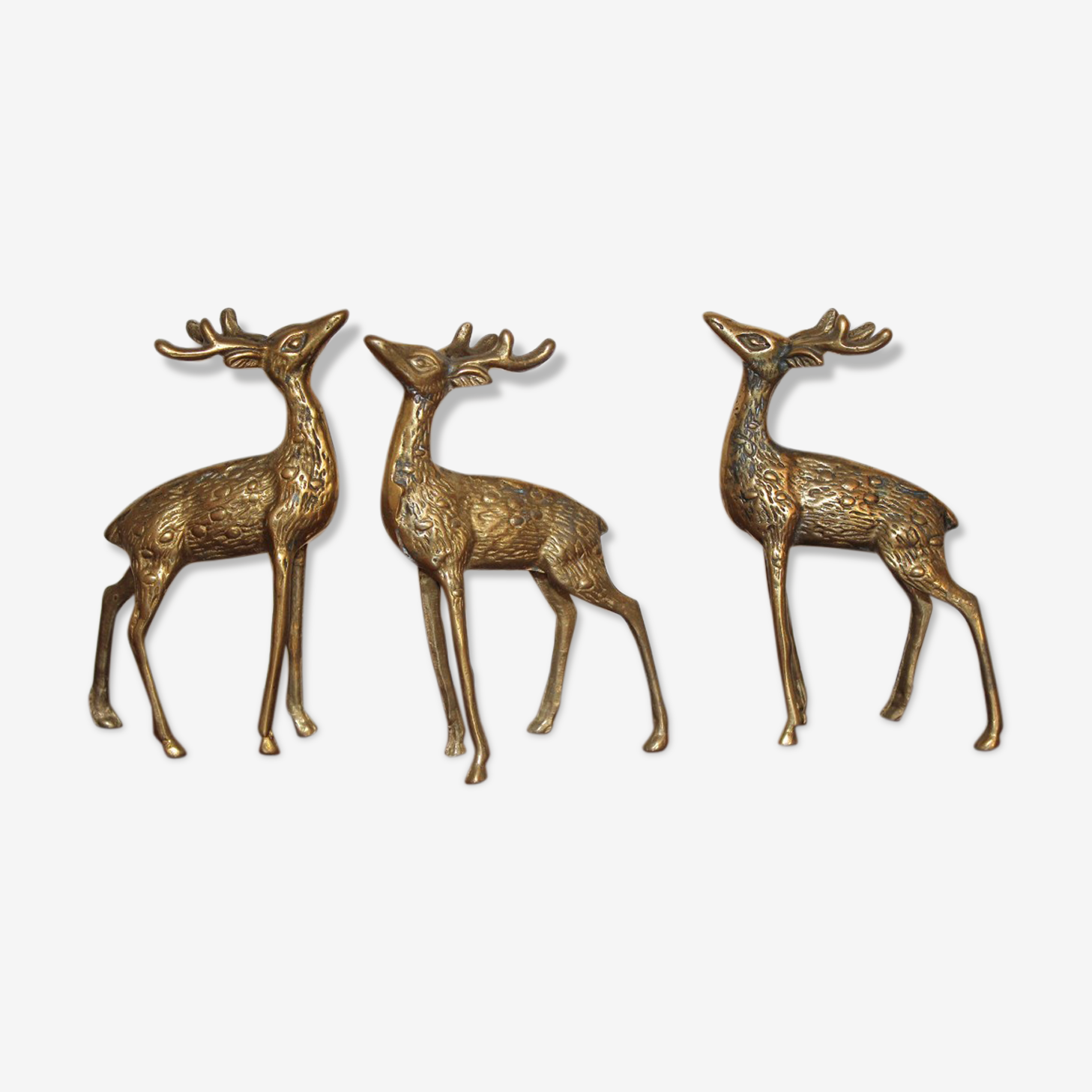 Deer vintage brass trio