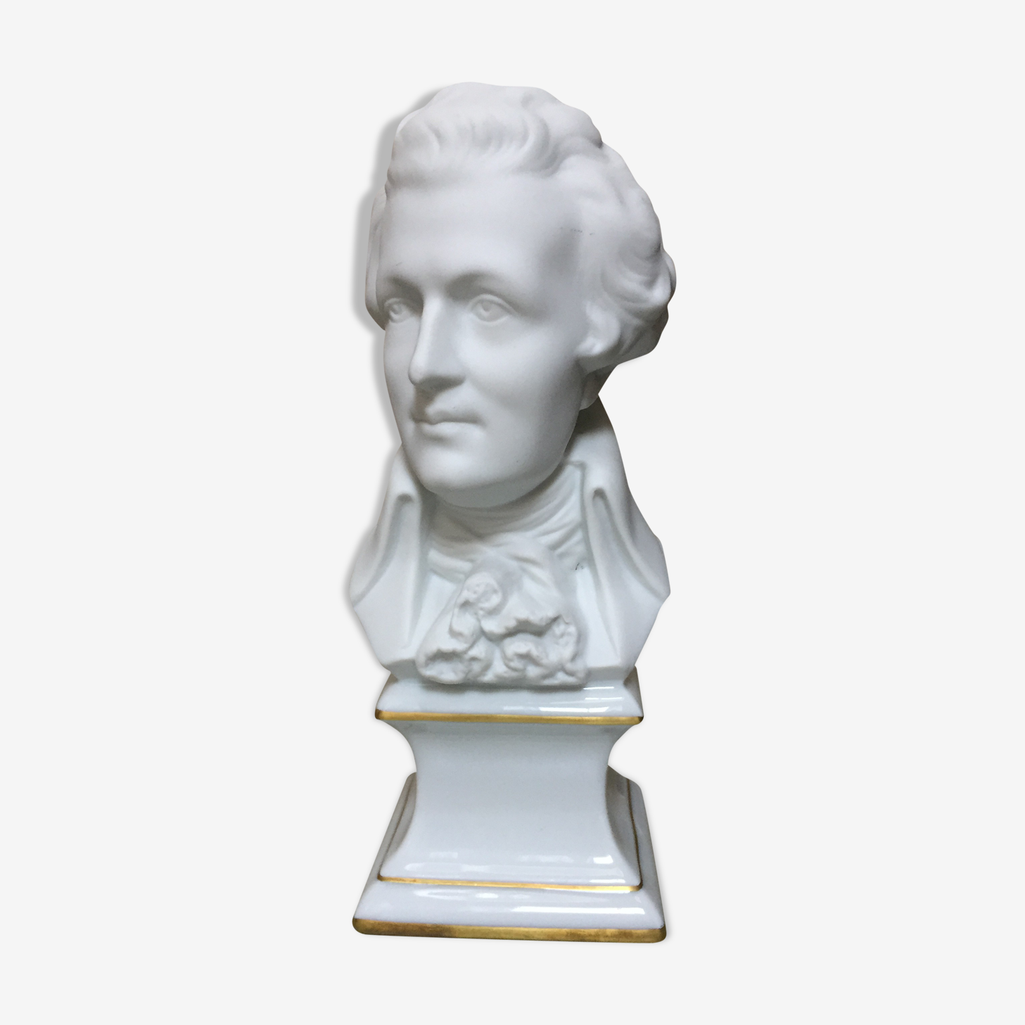 Bust Mozart biscuit porcelain from Limoges