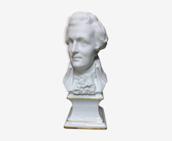 Buste Mozart biscuit en porcelaine de Limoges