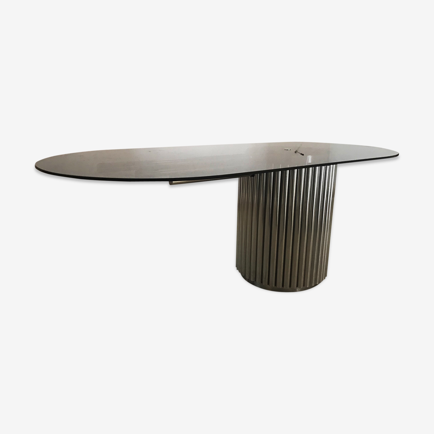 Table métal et verre Gastone Rinaldi 1970