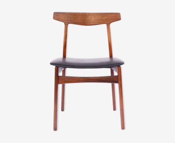 chaise danoise palissandre cuir h kjaernulf diteur hansen - Chaise Danoise