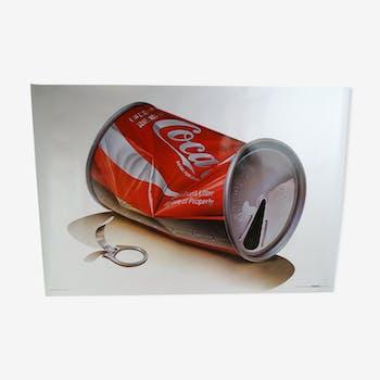 Affiche coca-cola Tom Lidell 1981