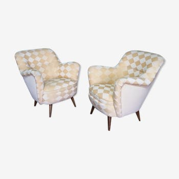 Organic year 50-60 club chairs pair