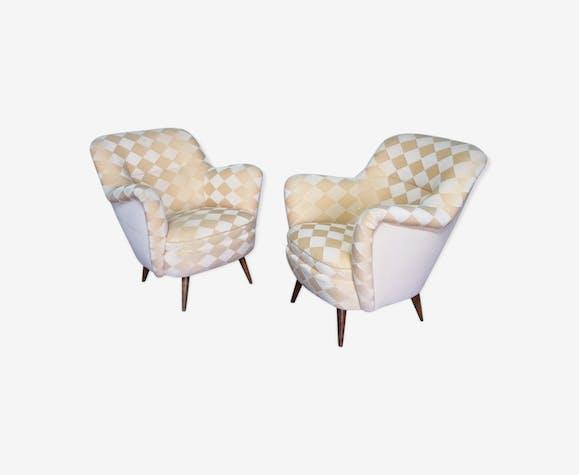 Organic year 50-60 club chairs pair