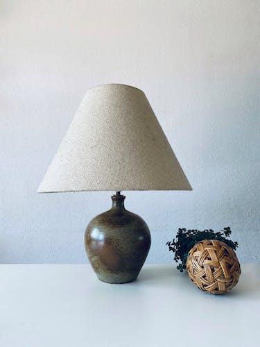 Lampe bohème en grès et laine