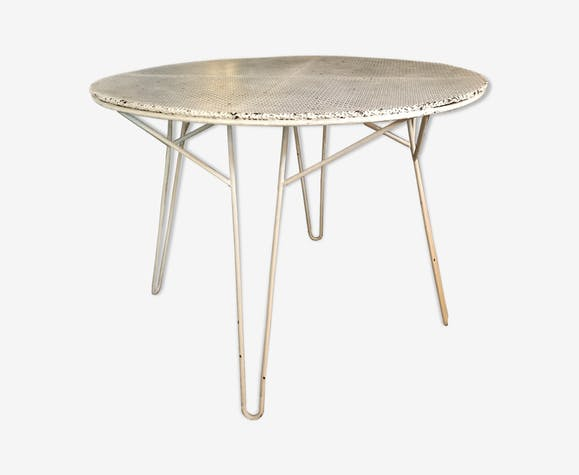Table de jardin Mathieu Mategot - fer - blanc - design - 68bIuaq
