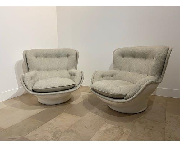 Paire de fauteuils de Michel Cadestin