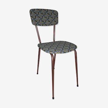 Ancienne chaise en formica retapissé