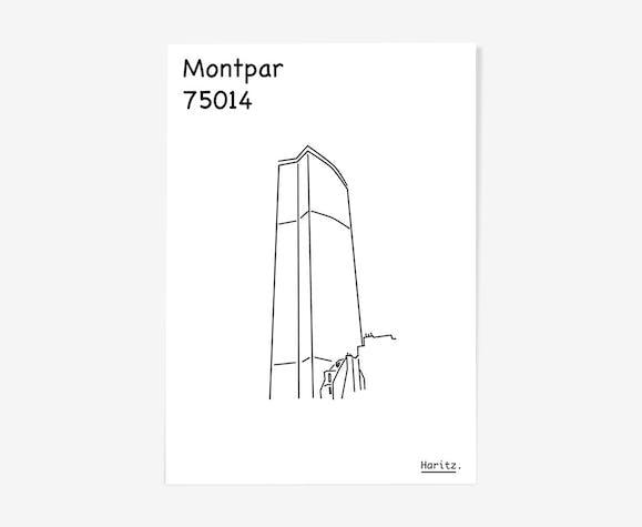 "Illustration, ""Montparnasse"" Paris"