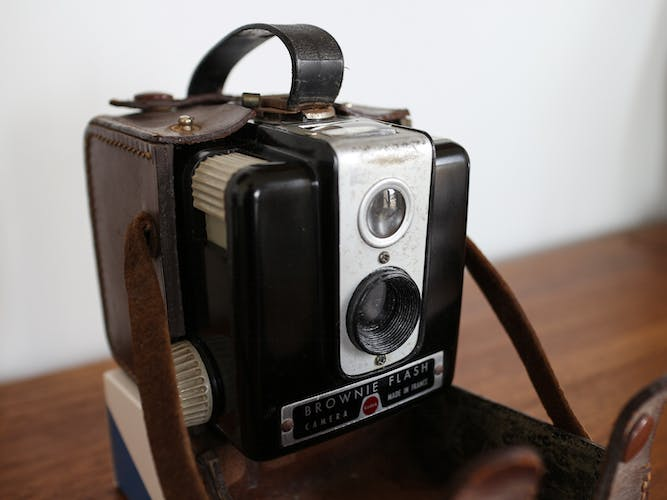 Appareil photo vintage Kodak Brownie Flash