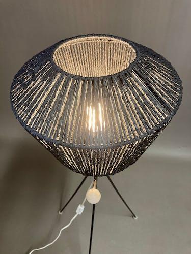 Lampadaire tripode noir 1950