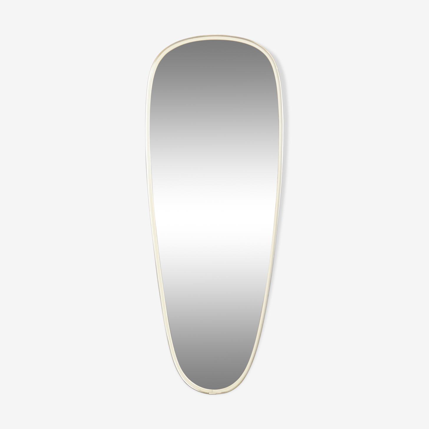 Miroir forme libre années 50 60 78x30cm