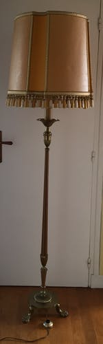 Floor lamp in bronze
